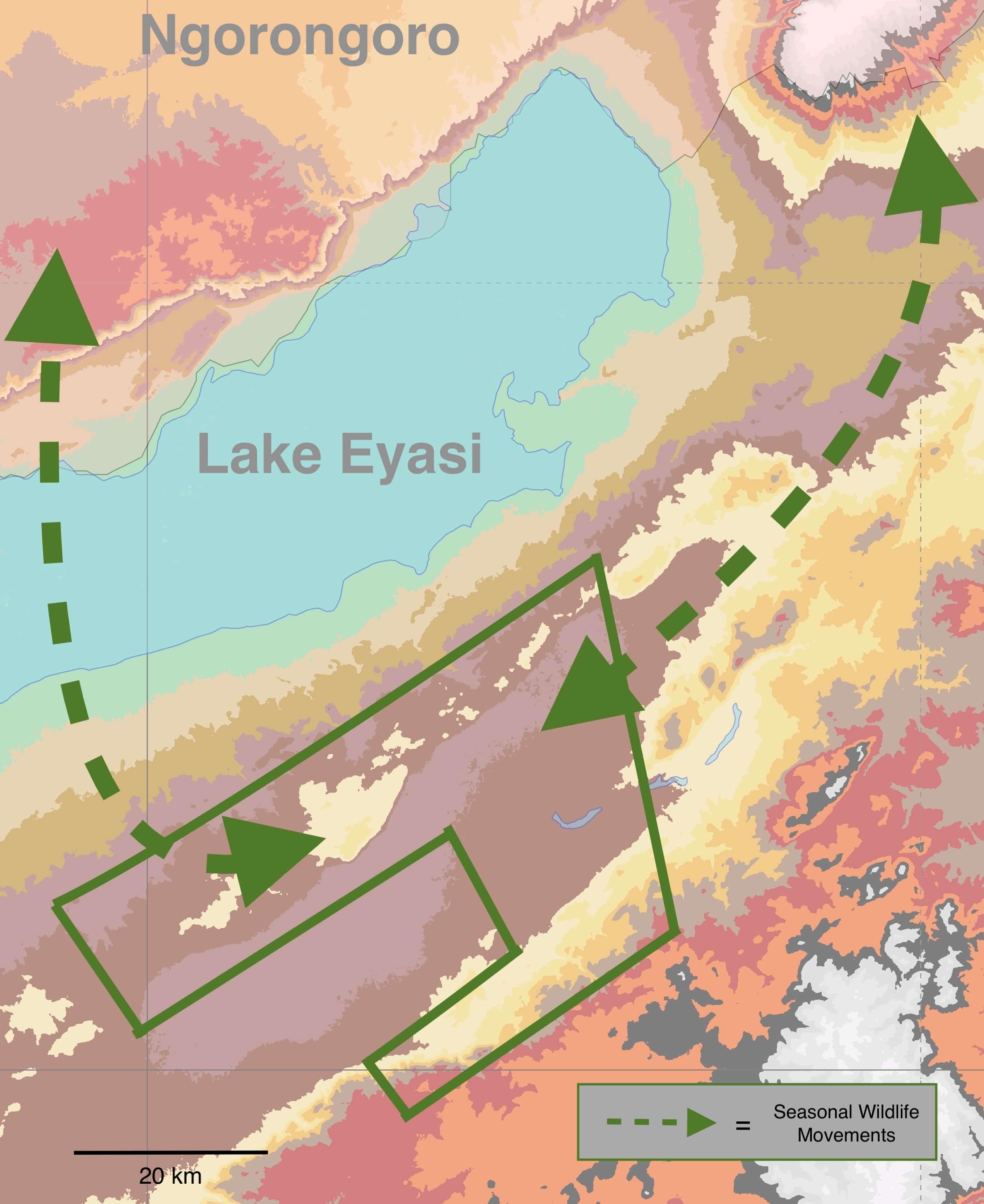 Yaeda Valley basemap - Carbon Tanzania