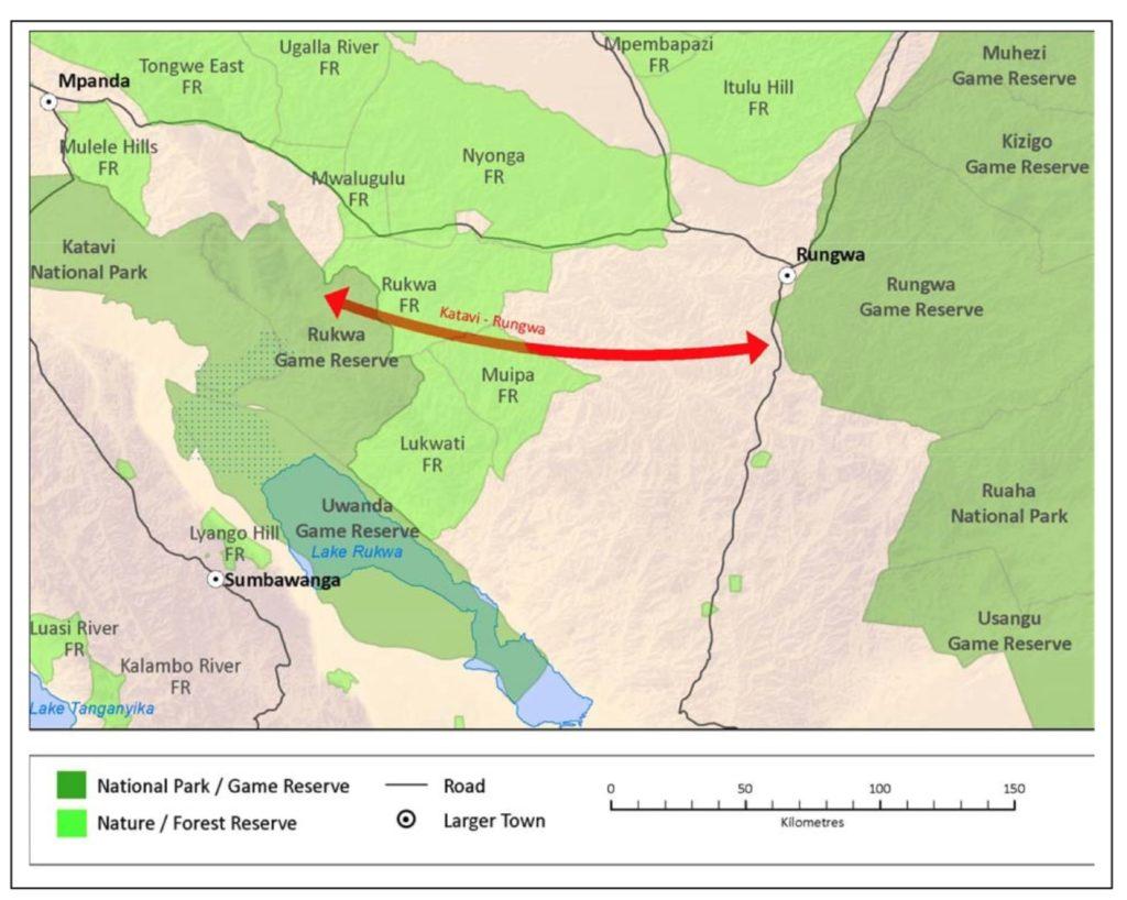 Map of Rungwa Ruaha Katavi