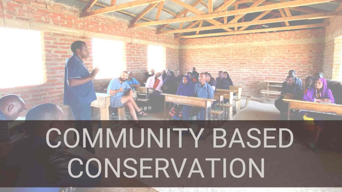 Community based conservation meetings
