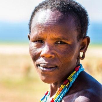 Indigenous woman in Yaeda Valley